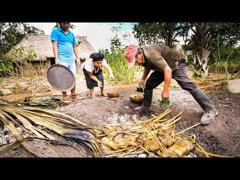 Ancient MAYAN FOOD Jungle Cooking in MAYA VILLAGE in Quintana Roo Mexico