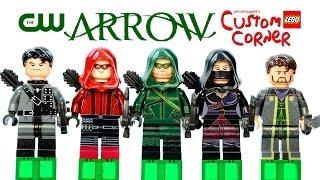 LEGO Arrow TV Series on the CW DC Superheroes Custom Minifigures w/ Arsenal & Ra's al Ghul