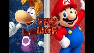 Fan War!!! Rayman vs Mario