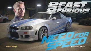 2Fast & 2Furious Brian's Skyline R34 on NEED FOR SPEED (2015) PS4