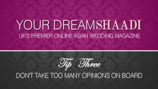 The Bridal Coach: Michele Paradise talks about Asian weddings with Asian brides to-be.