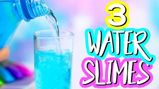 DIY Water Slime! How To Make The Best Water Slime Recipe! Jiggly Water Slime!