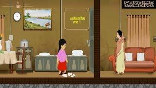 New Meena Cartoon in Bangla মিনা রাজু-পর্ব :মিনা এখন শহরে থালা পরিষ্কার করছে !UNICEF Meenas Gameplay