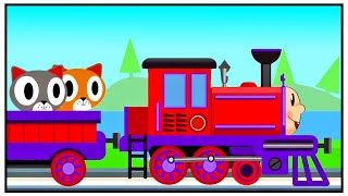 Train for Kids - Play with CATS - New Cartoon Animation