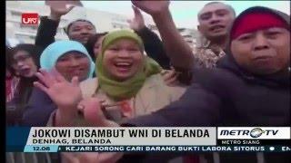 Tiba di Belanda, Presiden Jokowi Disambut Heboh Ratusan WNI di Depan Hotel