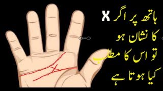 what does letter X on your palms reveal video in Urdu ,Hindi