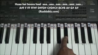 Yeh Kaali Kaali Aankhen - Piano Tutorials - Baazigar