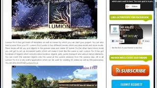 HOW TO DOWNLOAD FREE LUMION FROM GET IN TO  PC