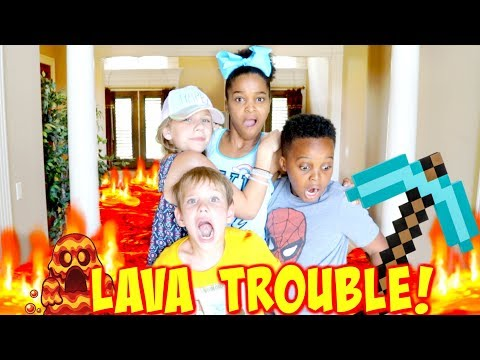 Xxx Mp4 THE FLOOR IS LAVA TROUBLE With Shasha And Shiloh Onyx Kids SuperHero Kids 3gp Sex