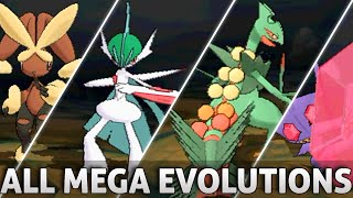 Pokemon Omega Ruby and Alpha Sapphire: All Mega Evolutions!