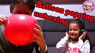 BALLOON POPPING SURPRISE SHOW- wir lassen LUFTBALLONS PLATZEN🎈 !!! | Spielzeuge Kinderkanal