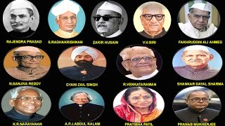 INDIAN ALL PRESIDENT LIST WITH PHOTO (1950-2012) || भारत के राष्ट्रपति (1950-2012)