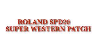 Roland spd20 play wetern patch 9098001758