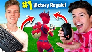 WORLDS FIRST Mouse & Keyboard Challenge WIN In Fortnite Battle Royale!