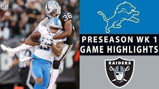 Lions vs. Raiders Highlights   NFL 2018 Preseason Week 1