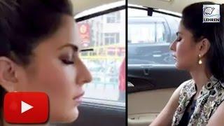 (Video) Katrina Kaif Sleeping In Car | LehrenTV
