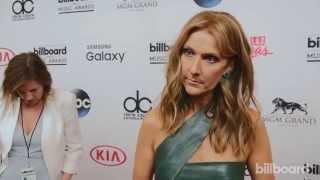 Celine Dion backstage at the Billboard Music Awards 2015