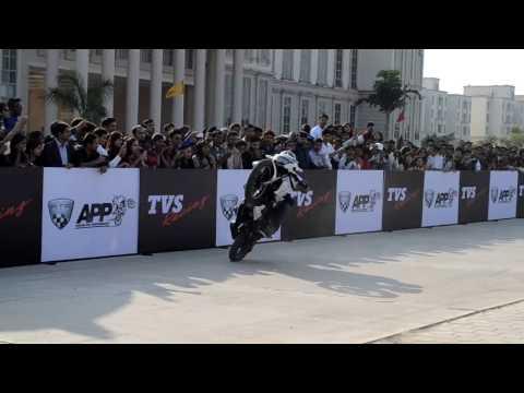 TVS apache rtr stunt