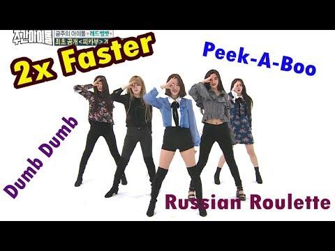 Red Velvet 2X FASTER - Dumb Dumb + Russian Roulette & Peek-A-Boo [WEEKLY IDOL]