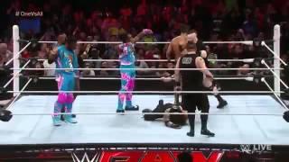 Brock Lesnar returns 2016 and attack (New day,KO,Del rio,sheamus,Roman reigns)