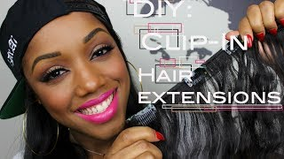 How To Make Clip-In Hair Extensions | Ellarie