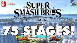 Super Smash Bros Ultimate - 75 Stages Revealed SO FAR!
