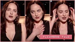 """And there is my giant nipple"" Dakota Johnson on watching herself on screen - FIFTY SHADES DARKER"