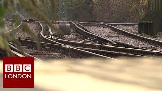 Tackling leaves on the line - BBC London