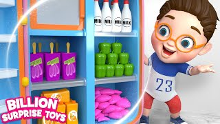 Baby Learn with Refrigerator Food Toys - Songs & Animation for Kids