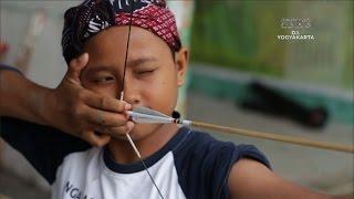 Child Play Traditional Archery in Yogyakarta - Indonesia