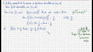 Fonction logarithme népérien - dérivée et tableau de variations de f(x)=(ln x)²- ln x : Exercice Bac
