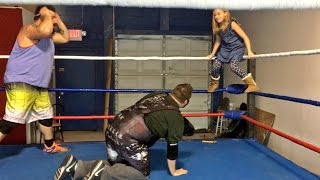 WRESTLING MY DAUGHTER! SHE WANTS TO BE A WWE SUPERSTAR!
