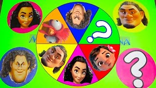 Moana Movie Spin the Wheel Game with Trolls Movie, Playdoh Stop Motion, Paw Patrol | Ellie Sparkles