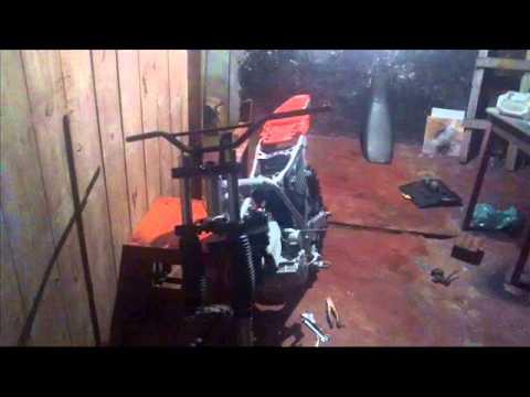 Reforma da moto de trilha XLX com motor de tornado 250cc . Paranaguá PR