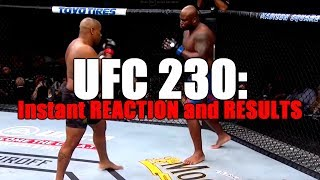 UFC 230: Reaction and Results