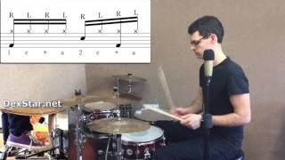 Two Handed Hi-Hat Groove 3 | Drum Lesson by Dex Star