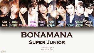 Super Junior (슈퍼주니어) – BONAMANA (미인아) (Color Coded Lyrics) [Han/Rom/Eng]