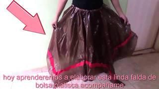 falda de bolsa plastica