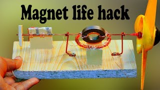 how to make high power motor fan with magnet and copper wire at home    magnet life hack
