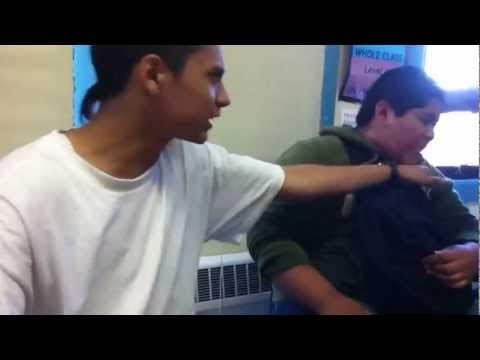 Slap boxing in class [HD]