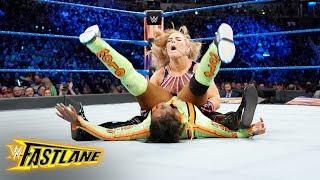 Natalya drops Naomi with a stinging powerbomb: WWE Fastlane 2018 (WWE Network Exclusive)