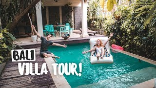 $15 a Night INSANE BALI LUXURY VILLA TOUR! (Feat. Flying the Nest, Kinging It and The Way Away!)