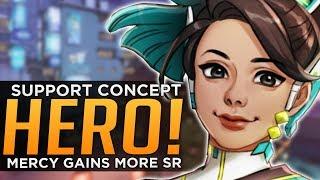 Overwatch: NEW Support Hero Tara Concept! - Mercy Gains More SR!