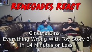 Renegades React to... Cinema Sins - Everything Wrong With Toy Story 3 in 14 Minutes or Less