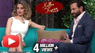 Kangana Ranaut | Saif Ali Khan | Koffee With Karan Season 5 Episode 16 | BEST MOMENTS