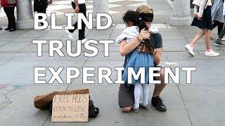 FREE HUGS! Blind Trust Experiment in London