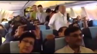 Sonu Nigam singing in a airline on public demand : Full Video