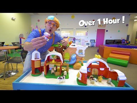 Educational Videos for Toddlers with Blippi Toys 1 Hour of Playground and Animals