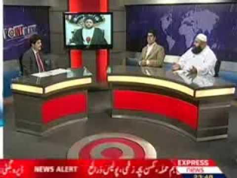 Shia muta Debate express news point blank jaleel naqvi & tahir ashrafi mutta 29 sep 2009.parat.04