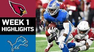 Cardinals vs. Lions   NFL Week 1 Game Highlights